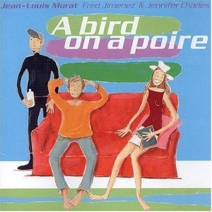 a bird on a poire